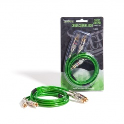 Cabo RCA Technoise  1M  Series 400P   5 MM - Conector Metal Verde