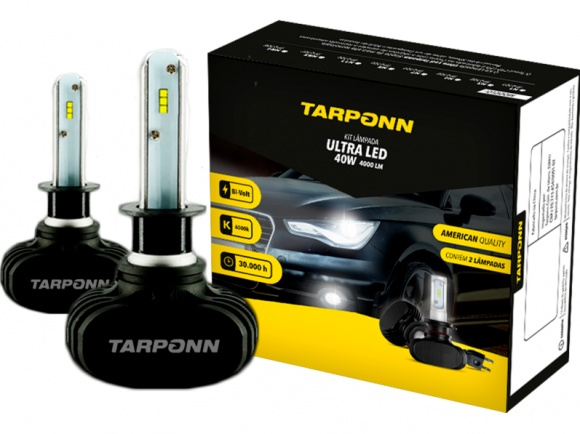 Kit Lâmpada Ultra Led H1 40w Tarponn
