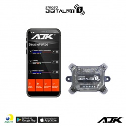 Central Avulsa Controladora do Strobo AJK RGB Digital Bluetooth Bt