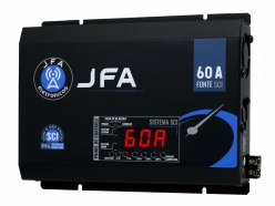 Fonte Automotiva JFA 60A 3000W SCI Bivolt Display LED Voltímetro Amperímetro