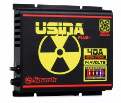 Fonte Carregador Automotiva Digital Spark Usina 40A Plus Battery Meter Bivolt