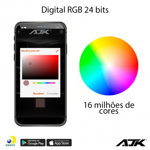Kit Strobo Ajk Rgb Led 8 Faróis 3W Digital Bt Bluetooth - foto 5