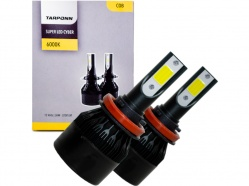 Kit Lâmpada Super Led Cyber 36W H11 Tarponn