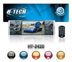 Central Multimídia MP5 H-Tech HT- 2420 Usb Bt Sd Aux Espelhamento