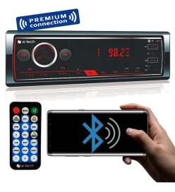 Aparelho Radio Mp3 Automotivo E-tech Premium 2 Saidas Usb Bt Fm Sd Tela Touch Screen