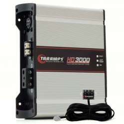 Módulo Amplificador Digital Taramps HD 3000 - 1 Canal - 3598 Watts RMS com Extensor LED Clip - 1 Ohm