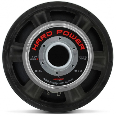 Alto Falante Woofer Hard Power HP 600S 12 Polegadas 600W RMS 8 Ohms - foto 4