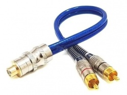 Cabo Rca Y Tech One 2M 1F Prime Metal 5MM Azul
